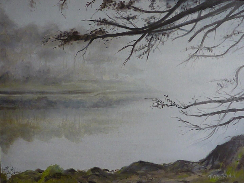 Herve Thomas-Miton - Matin, rivière de Crach.